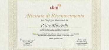 Miravalle 1926 for CBM Onlus
